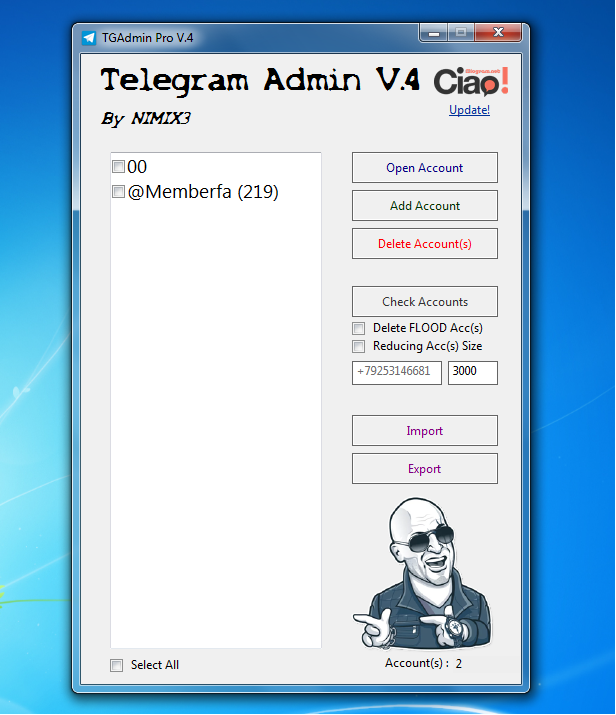 برنامه tgadmin دانلود رایگان نرم افزار افزایش عضو کانال تلگرام نرم افزار افزایش اعضای کانال تلگرام Untitlebd