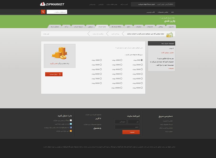 zipmarket4 - اسکریپت فروش محصولات مجازی زیپ مارکت